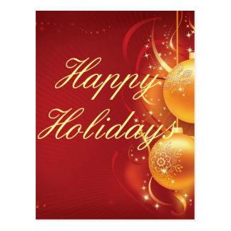 feliz navidad happy holiday postcard