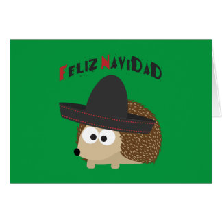 Feliz Navidad Hedgehog Card