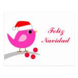 Feliz Navidad Holiday Bird Postcards