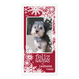 Feliz Navidad -  Let It Snow! Custom Photo Card