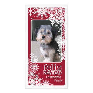 Feliz Navidad -  Let It Snow! Customized Photo Card