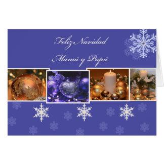 Feliz Navidad Mama y Papa Card