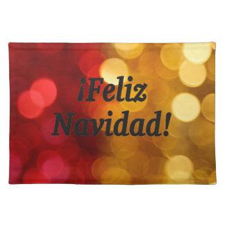 ¡Feliz Navidad! Merry Christmas in Spanish bf Cloth Place Mat