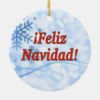 ¡Feliz Navidad! Merry Christmas in Spanish rf Christmas Ornament