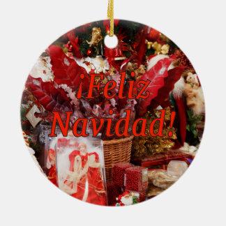 ¡Feliz Navidad! Merry Christmas in Spanish rf Christmas Ornament