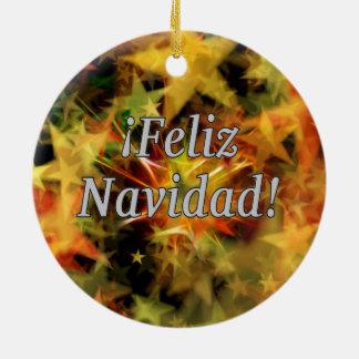 ¡Feliz Navidad! Merry Christmas in Spanish wf Christmas Ornament