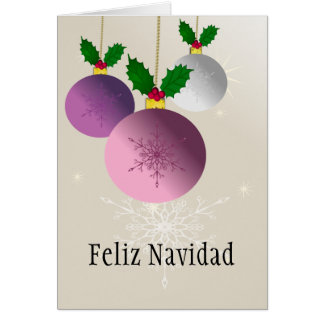Feliz Navidad-Merry Christmas, Let it snow. Card