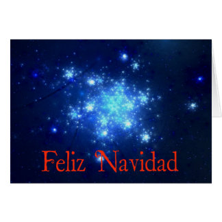 Feliz Navidad - Night Sky Greeting Card