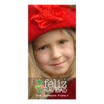 Feliz Navidad: One Large Photo Customised Photo Card