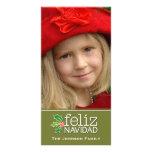 Feliz Navidad: One Large Photo Personalized Photo Card