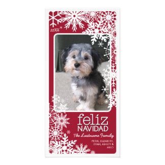 Feliz Navidad Photo Card: Let It Snow! Customized Photo Card
