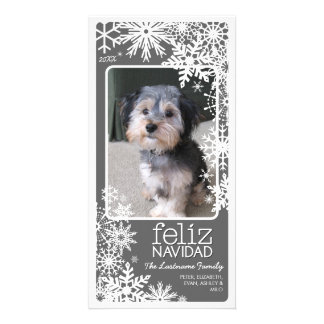 Feliz Navidad Photo Card: Let It Snow! Photo Card Template