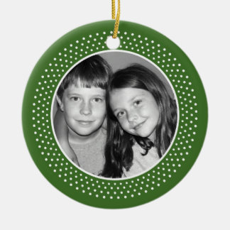 Feliz Navidad Photo Frame Round Ceramic Decoration