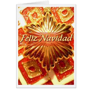 feliz-navidad red 5 design greeting card