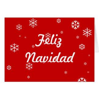 Feliz Navidad Snowflakes Card