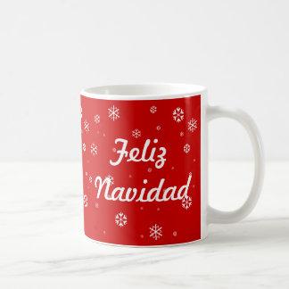 Feliz Navidad Snowflakes Coffee Mug