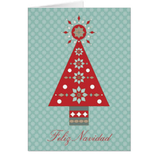 Feliz Navidad Southwestern Christmas Tree Greeting Card