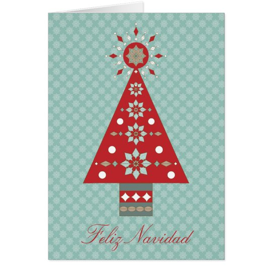 Feliz Navidad Southwestern Christmas Tree Greeting Card