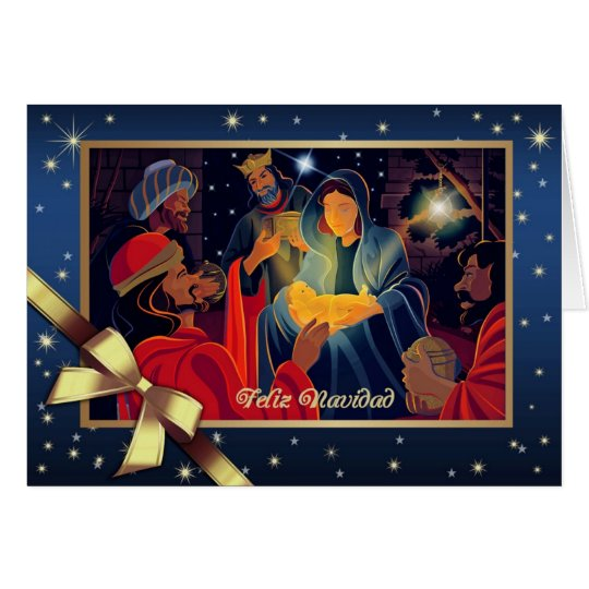 Feliz Navidad . Spanish Customisable Greeting Card