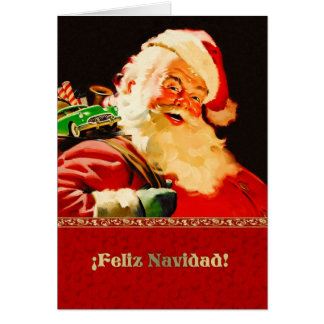 Feliz Navidad. Spanish Customizable Christmas Card
