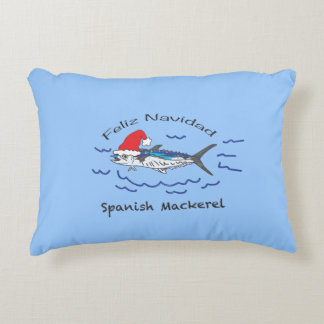 Feliz Navidad Spanish Mackerel Decorative Cushion