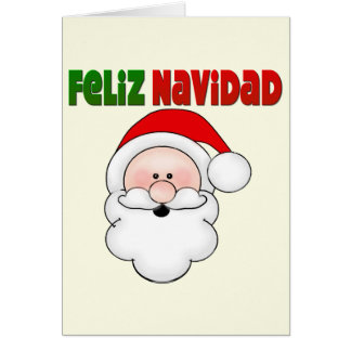 Feliz Navidad Spanish Santa Card