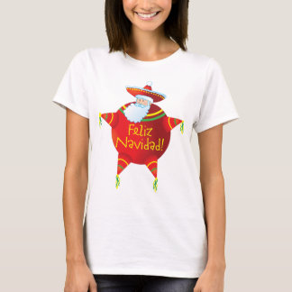 Feliz Navidad - Spanish T Shirt, Spanish Santa T-Shirt