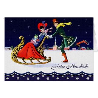 Feliz Navidad. Spanish Vintage Style Card