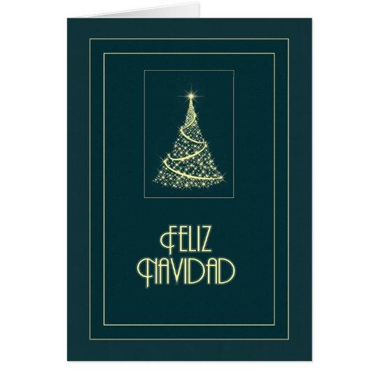 Feliz Navidad Sparkling Tree Card