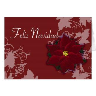 Feliz Navidad tarjeta de Pascua Nochebuena Greeting Cards