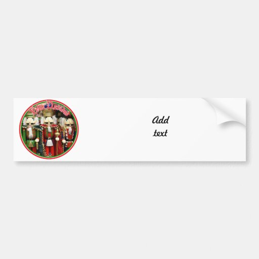 Feliz Navidad - Three Wise Crackers Bumper Stickers