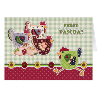 Feliz Páscoa. Customizable Portuguese Easter Cards