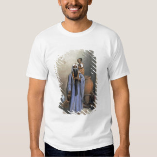 Fellah Woman and Child, illustration from 'The Val Tee Shirt