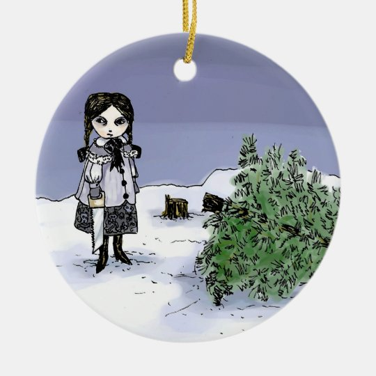 Felling the Holiday Tree Christmas Ornament