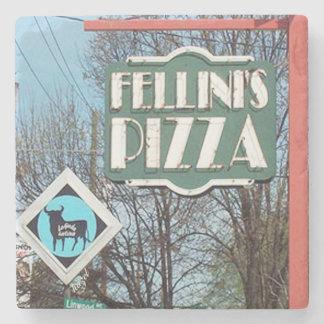 Fellini's Poncey Highland, Atlanta Marble Stone Co Stone Coaster