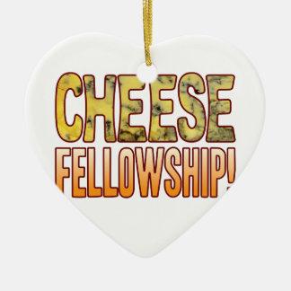 Fellowship Blue Cheese Ceramic Heart Decoration