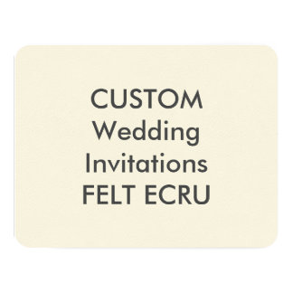 "FELT ECRU 110lb 5.5"" x 4.25"" Wedding Invitations"