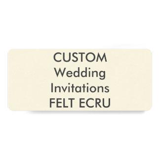 """FELT ECRU 110lb 9.25"""" x 4"""" Wedding Invitations"""