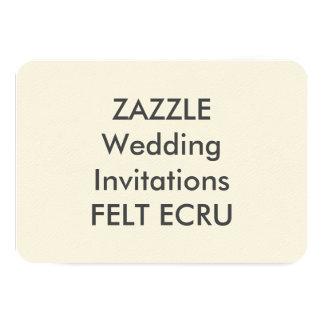 "FELT ECRU 5"" x 3.5"" Wedding Invitations"