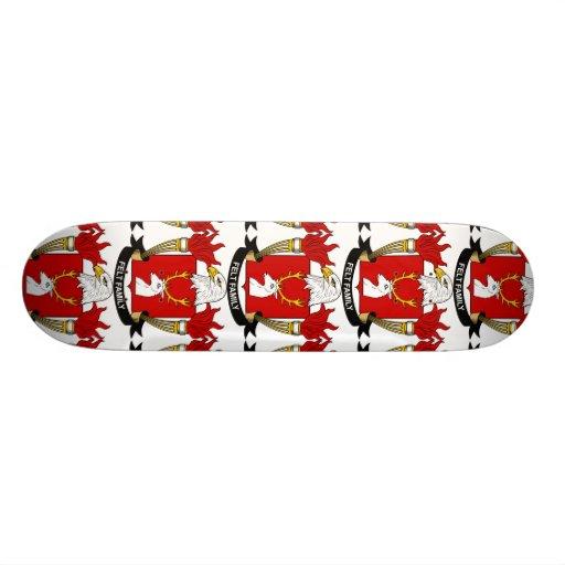 Felt Family Crest Custom Skate Board