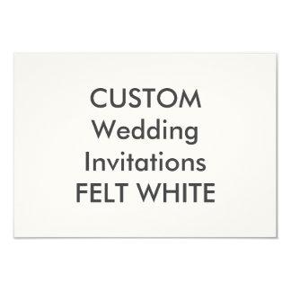 "FELT WHITE 5"" x 3.5"" Wedding Invitations"