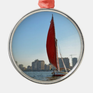 Felucca In Cairo Christmas Ornament