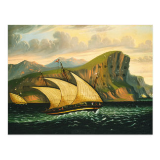 Felucca off Gibraltar by Thomas Chambers Postcard