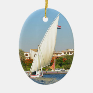Felucca On The Nile Ceramic Oval Decoration