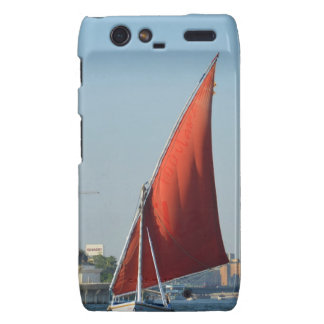 Felucca With Red Sail Droid RAZR Cases
