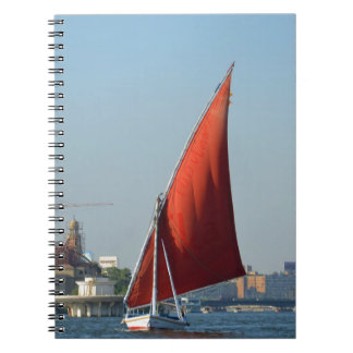 Felucca With Red Sail Note Books