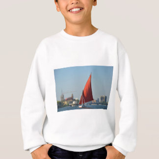 Felucca With Red Sail Sweatshirt