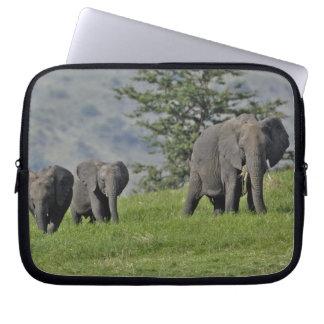 Female African Elephant with baby, Loxodonta 2 Laptop Sleeve