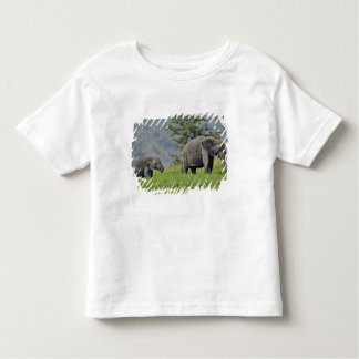 Female African Elephant with baby, Loxodonta Toddler T-Shirt