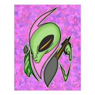 Female Alien Artist 21.5 Cm X 28 Cm Flyer